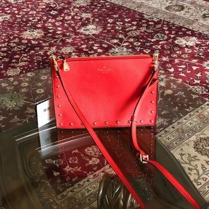 NWT Kate spade picnic red studded crossbody